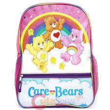 "Care Bears Large School Backpack 16"" Girls Book Bag"