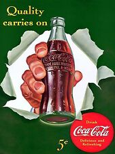 1942 Coca cola Ad Quality Metal Magnet 3 x 4 inches 9578