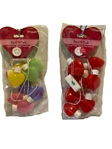 Valentine Halloween Christmas Costume Light-Up Red Hearts Multi-Color Necklace