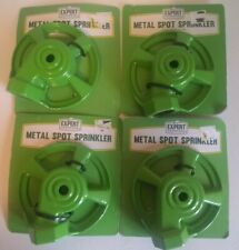 New listing Lot of 4 Metal Spot Sprinkler Heavy Duty Steel New Lawn Expert Gardener Garden