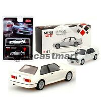 Mini GT 1:64 MiJo Exclusives BMW M3 E30 Alpine White LHD Diecast Model Car New