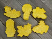Vintage Wilton Sesame Street Cookie Cutters Set of 6 Car Train Airplane Rocket