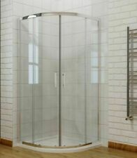 Quadrant Offset Shower Enclosure Easy Clean Glass Sliding Door No Tray 800mm