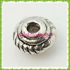 5x3mm 50pcs Antique Silver Tibetan Bicone Spacer Beads Earrings Jewelry Findings