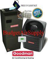 2.5 ton 16 SEER Goodman Heat Pump System GSZ160301+ASPT37C14+Tstat+Heat +Uv ++