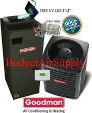 2.5 ton 16 SEER Goodman Heat Pump System GSZ160301+ASPT37C14+Tstat+Heat NEWEST!