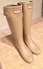 Hunter Women's Original Refined Back-Strap Rain Boots in PALE SUNSET 7 US