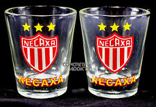 2 Club NECAXA Soccer futboll Team Tequilla Shot Glass Pair copita caballito New