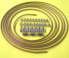Bremsleitung Bremsrohr 4,75 Kupfer Nickel 5m Kunifer 10 x Adapter 20 x Überwurfm
