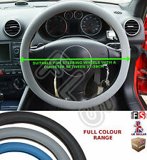 UNIVERSAL GREY STEERING WHEEL COVER FAUX LEATHER 37 TO 39CM–Vauxhall 2