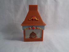 Disney Dollhouse Miniature Furniture Brown Plastic Fireplace