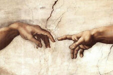 CREATION HANDS - MICHELANGELO POSTER - 24x36 SHRINK WRAPPED - ART PRINT 12269