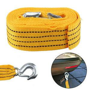 Towing Pull Rope Strap Heavy Duty Road 3Tons 4.5cm x 4m Vehicle Road Recovery UK