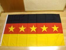Fahnen Flagge Deutschland 5 Sterne - 90 x 150 cm