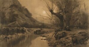 """Adolphe Appian : """"In the Valromey Valley"""" (1868) — Giclee Fine Art Print"""