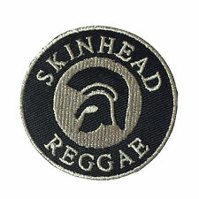 Embroidered Skinhead Reggae Trojan Helmet Sew or Iron on Patch Biker Patch