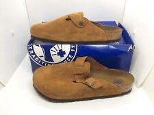 BIRKENSTOCK Mens Boston Mink Brown Suede Clog Shoes Sz 9 EU42 ZB6-1204