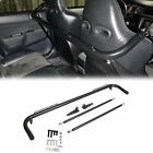 """49"""" Black Universal Stainless Steel Racing Safety Seat Belt Roll Harness Bar Rod"""