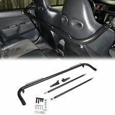 49 Black Universal Stainless Steel Racing Safety Seat Belt Roll Harness Bar Rod Fits Toyota
