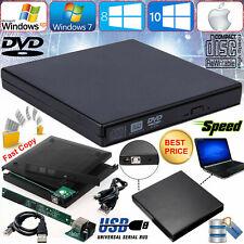 Slim Black USB 2.0 to IDE Laptop CD DVD Drive RW Rom External Caddy Case Cover