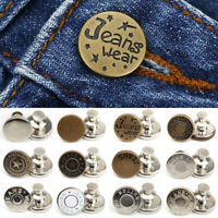 5pcs Snap Fastener Metal Buttons For Pants Clothes Jeans Button Sewing Craft DIY