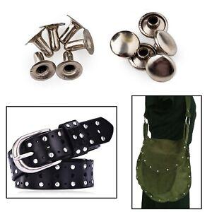 8mm x 8mm Single Cap Tubular Rivet 100pcs Silver for Repair Clothes Leather Bags