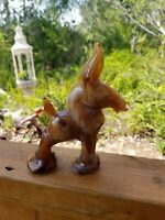 Vintage IMPERIAL GLASS IG Caramel SLAG Donkey Mule MINT CONDITION
