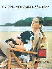 ▬► PUBLICITE ADVERTISING AD Eau de toilette Parfum Ralph Lauren perfume 1991