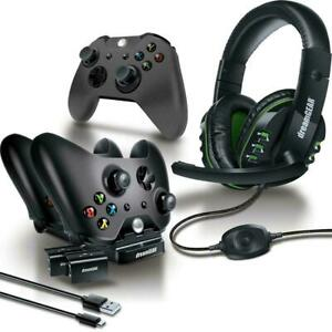 Dream Gear DGXB1 6630 8 Piece Headset Dual Dock Cable Xbox Gaming Accessory Kit