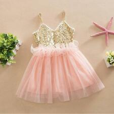 Toddler Kids Baby Girl Princess Tutu Dress Sequin Wedding Party Prom Tulle Dress