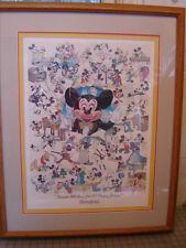 Disneyland 1988 Mickey 60 Year Print- Solid Oak Framed