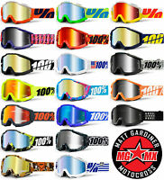 2014 100% ACCURI MOTOCROSS MX GOGGLES MIRROR LENS enduro bike 100 PERCENT NEW