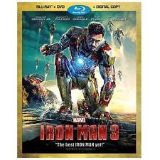 Iron Man 3 (Blu-ray/DVD, 2013, 2-Disc Set, Includes Digital Copy)