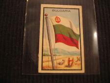 1963 TOPPS MIDGEE #10 BULGARIA *MINI FLAG* CARD  VERY UNIQUE !