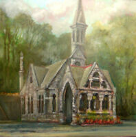 Oakwood Chapel, Syracuse New York 12x12 in. Oil on panel   Hall Groat Sr.