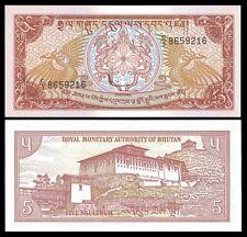 Bhutan 5 NGULTRUM Serie C3 ND 1986 P 14 UNC