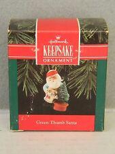 GREEN THUMB SANTA - Tending to Christmas Tree - HALLMARK KEEPSAKE ORNAMENT 1992