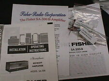 Fisher SA-300 SA-300-B Tube Amplifier Restoration Kit wilh FULL COLOR PHOTOS!