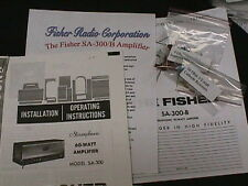 Fisher SA-300 SA-300-B Tube Amplifier Restoration Kit wilh FULL COLOR PHOTOS!