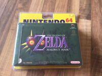 Nintendo 64:     ZELDA  MAJORA'S MASK-    NEUF/NEW   SOUS BLISTER       PAL EUR