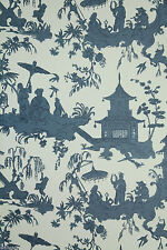 """Vintage Historic Chinoiserie Wallpaper - """"Jardin Chinois"""" by Waterhouse"""