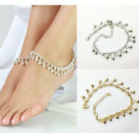 Bracelet Chain Charm Ankle Belly foot Dance Silver Gypsy Gold Bell Anklet