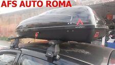 BOX AUTO PORTABAGAGLI G3 HELIOS 400+BARRE PORTATUTTO TOYOTA YARIS 3P.ANNO 2000