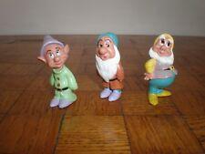 Figurines Disney Mattel lot de 3 nains (Blanche Neige & les 7 nains) (+/- 6cm)
