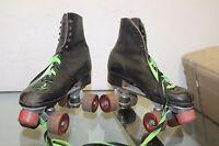 Vintage Black Roller Derby Skates, Hard Leather Size unknown