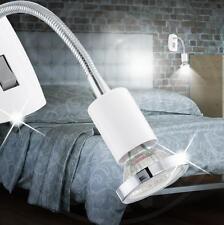 mia luce led lampada presa in alluminio bianco e cromo con braccio flessibile