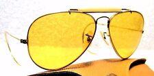 RAY-BAN VINTAGE 70s B&L *RARE AVIATOR *AMBERMATIC 10k GF *MINT SUNGLASSES & CASE