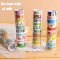 Lots Paper Sticky Adhesive Sticker Decorative Washi Tapes magic X10 Rolls/Set