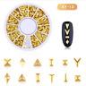 3D Metal Nail Art Decoration Gold Rivet Stud Moon Star Ocean Wheel Manicure Tool