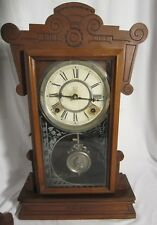 Antique Waterbury Concord Clock - with original Key - Needs work Works but stops
